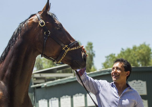 Victor Espinoza back to riding after various off-track events following Triple Crown win with American Pharoah