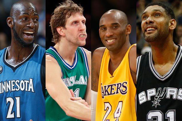Let's look at the numbers as Kobe, Duncan, Garnett, Nowitzki near end of an era