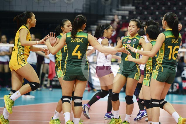 FEU Lady Tamaraws win five-set thriller over UP Lady Maroons, gain share of third spot