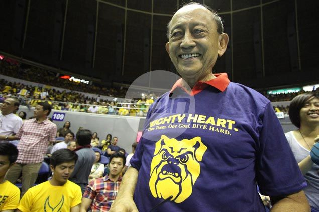 Fidel Ramos once again answers 'National' call, comes out to support alma mater NU in UAAP Finals