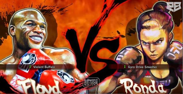 WATCH Ronda Rousey beats Floyd Mayweather in Street Fighter IV simulation