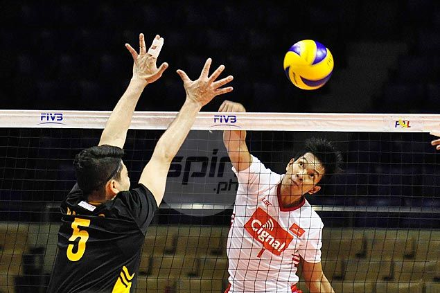 Cignal scores easy win over Maybank to take solo lead in Super Liga men's tournament