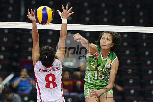 DLSU Lady Spikers score quick win over lowly UE Lady Warriors to take solo second spot in UAAP women's volley