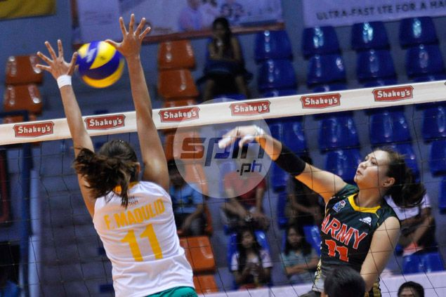 Backup setter Sarah Gonzales shares spotlight win Santiago and Tubino as Army whips Baguio