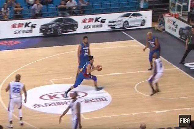 WATCH JC Intal puts exclamation point on Gilas rout of Kuwait with huge interception and slam dunk