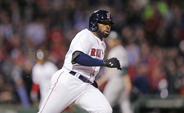 Jackie Bradley Jr. extends hitting streak, comes up with grand slam as Red Sox clobber A's
