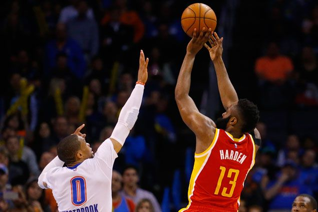 James Harden scores 41 as Rockets overcome Thunder and Russell Westbrook's triple-double