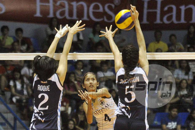 Thrust into role of setter, NU utility spiker Jasmin Nabor feeling the pressure but relishing the challenge