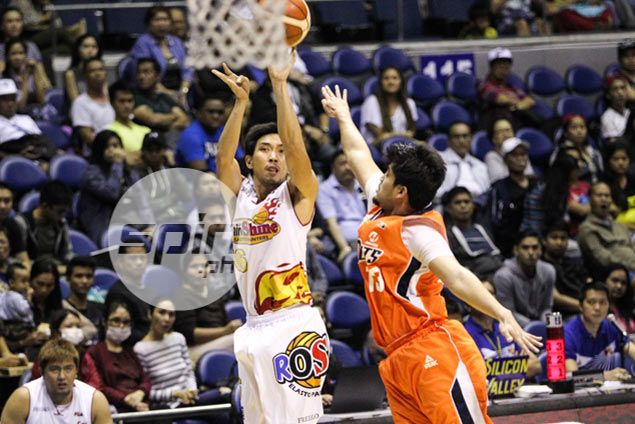 Almazan double-double, Chan sniping help Rain or Shine avoid upset at hands of Meralco