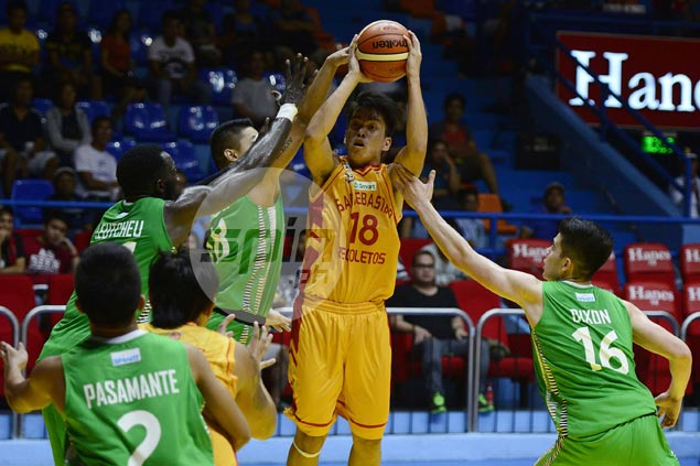 Stags overcome late Blazers rally to give Egay Macaraya victory in NCAA coaching debut