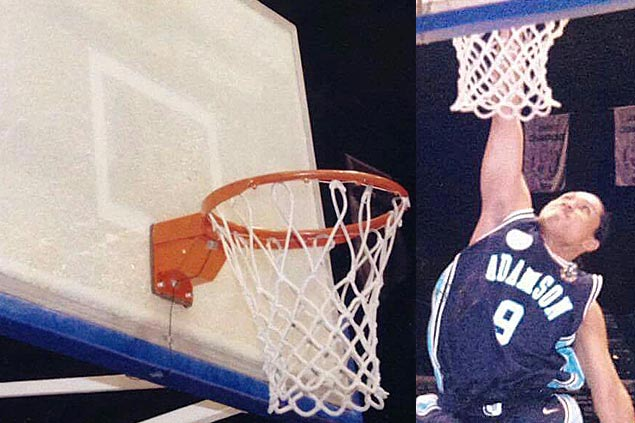 To this day, former Falcon Jojo Hate is best remembered for his backboard-shattering dunk