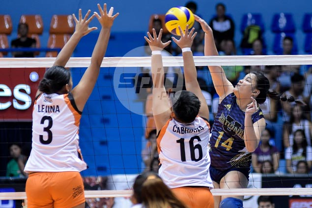 NU Lady Bulldogs snap two-match V-League skid with straight sets win over Iriga