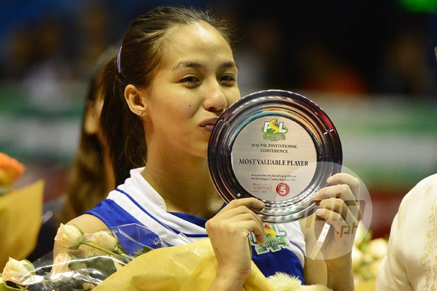 Double victory for Jovelyn Gonzaga as RC Cola Army skipper named PSL Invitational MVP
