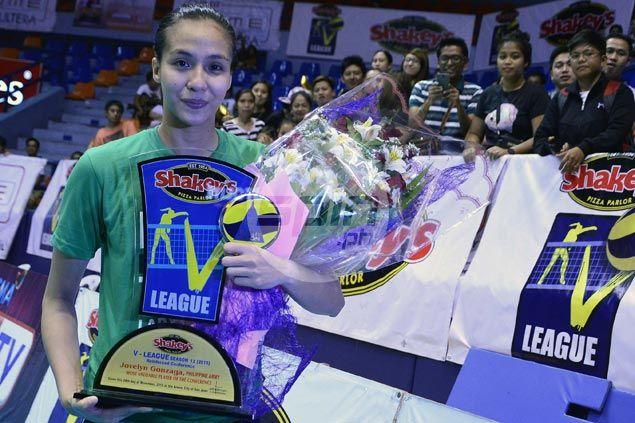 Army star Jovelyn Gonzaga wins second MVP award in V-League