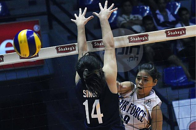 Air Force wakes up after sluggish start to stop NU Lady Bulldogs in four at the start of V-League semis