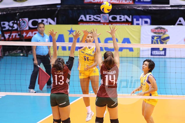 Air Force downs UP Lady Maroons to stay unbeaten, gain share of V-League lead