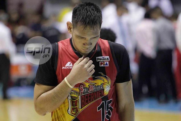 Distraught June Mar Fajardo says there was no intention to hurt Meralco import Davis