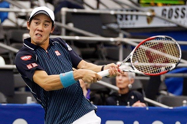 Nishikori beats Karlovic to retain US National Indoor Tennis Championship title