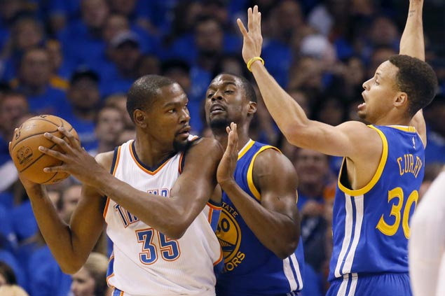 Kevin Durant scores 33 as Thunder clobber Warriors to regain lead in Western Conference finals
