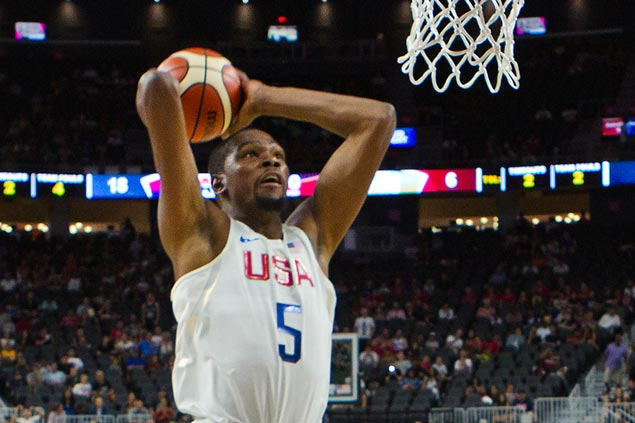 Kevin Durant oblivious to boos at Staples Center, focused on quest for gold medal