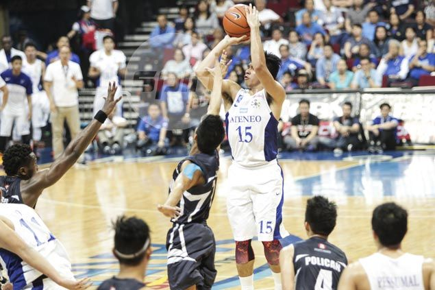 Ateneo snaps two-game skid by beating Adamson behind Ravena's near triple-double