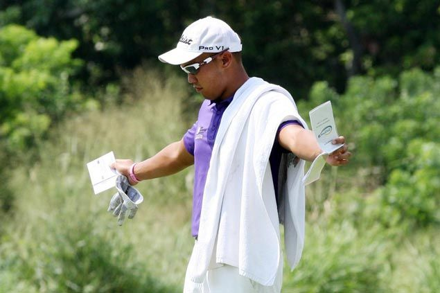 Aggressive play moves John Kier Abdon to the top halfway through the PGT Tournament Players Championship
