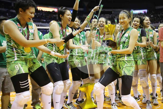 Finals MVP Kim Dy dimisses talk of taking over as new Lady Spikers leader