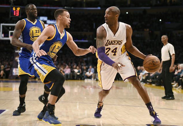 Kobe Bryant on right attitude against 'superteam' Warriors:'We're still going to take you down'