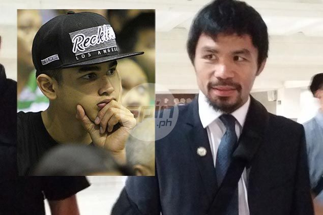 Pacquiao tips Kobe Paras for stardom, says teenager capable of achieving NBA dream