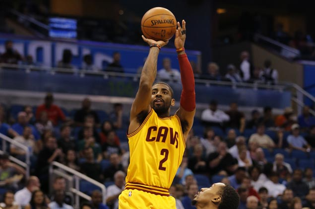 Kyrie Irving drops 43, Cavs sink NBA-record 25 triples to bounce back with slim win over Hawks