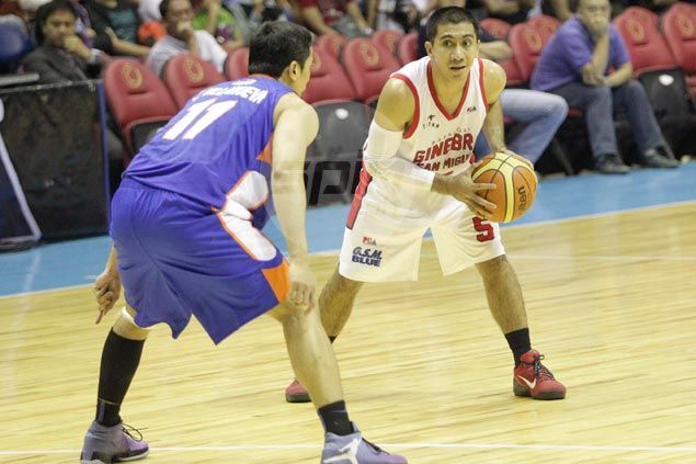 It has been two weeks, but LA Tenorio says he's still adjusting from Gilas' dribble-drive to Ginebra's triangle