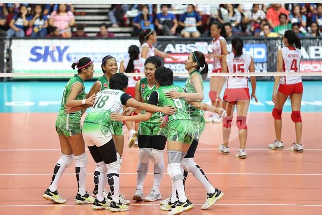 La Salle Lady Spikers gain twice-to-beat advantage in semis after rout of winless UE Lady Warriors