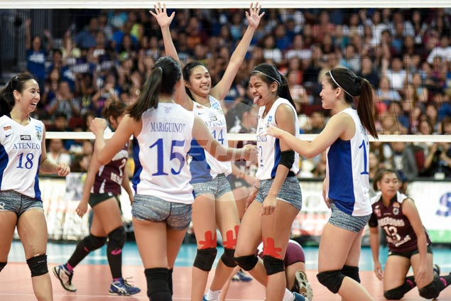 Ateneo Lady Eagles stay on track in bid for golden treble, gain finals with quick win over UP Lady Maroons