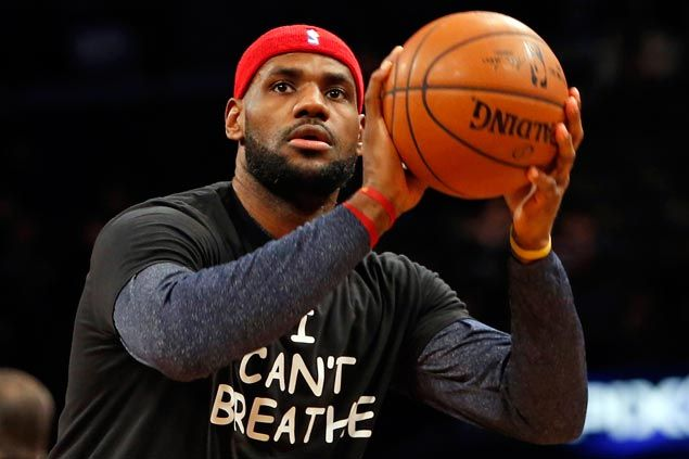 More players make statement as Cavs stars LeBron and Kyrie, Brooklyn Nets wear 'I Can't Breathe' shirts