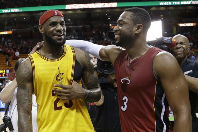 Dwyane Wade on LeBron James' pursuit of Michael Jordan: 'Only thing you can do is tie it'