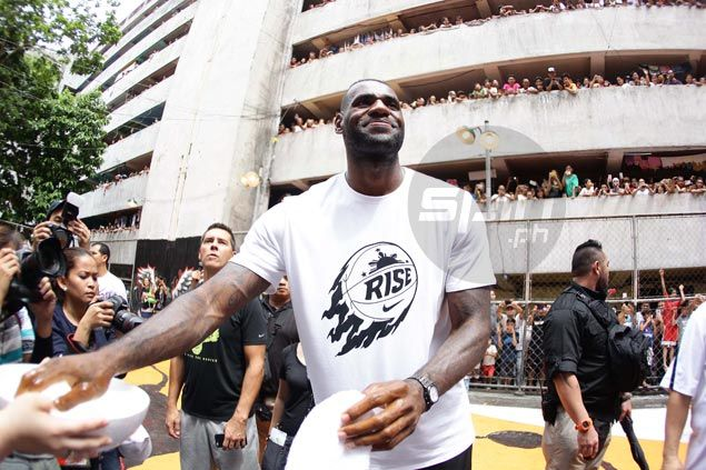 LeBron James arriving again for Manila stop of 'Strive for Greatness' tour on September 2
