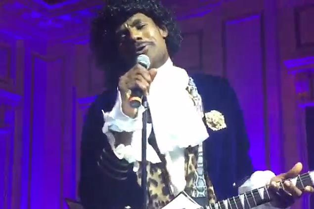 WATCH LeBron James switches crowns as The King performs as Prince in Cavaliers Halloween party