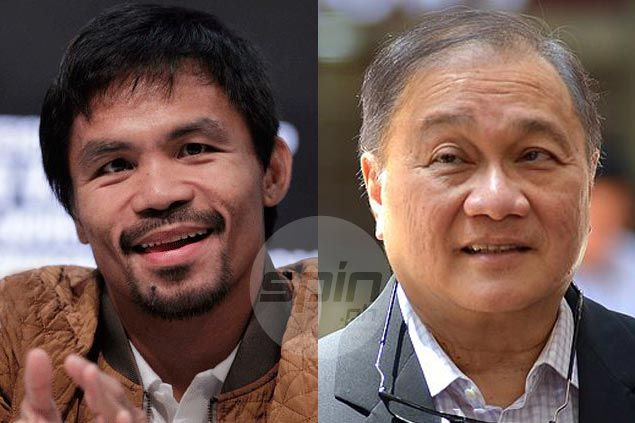 MVP gets good-natured ribbing from Pacquiao after Letran beats San Beda in NCAA