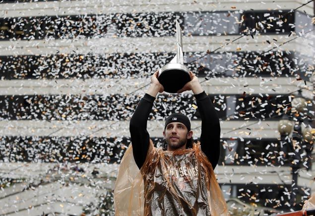 Confetti pour over Valley of Giants as San Francisco celebrates third World Series title in five years