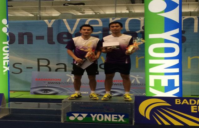 Filipino tandem Peter Magnaye and Paul Vivas wins Swiss International Badminton Open doubles title