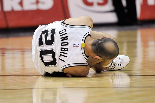 Spurs lose Manu Ginobili for a month after surgery to injured groin