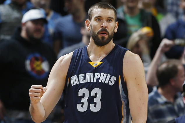 Marc Gasol matches career-high 38 points as Grizzlies defeat Pistons