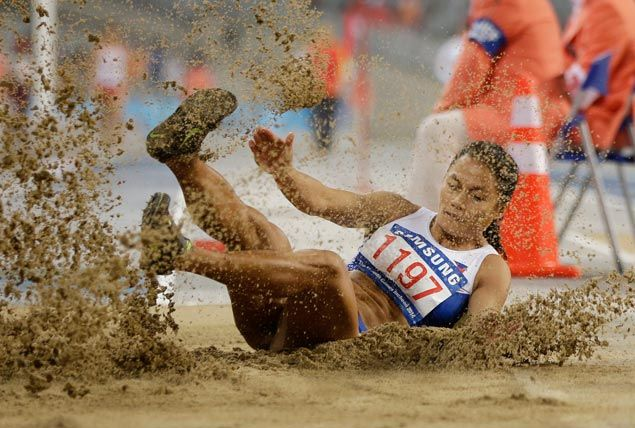 Long jumper Marestella Torres inches closer to Olympic standard with golden leap
