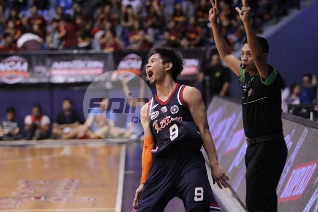 League-leading Letran Knights stretch streak to three with victory over St. Benilde Blazers