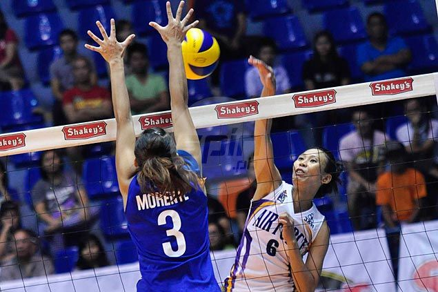 Air Force Spikers overcome Lady Eagles and flu-ridden Alyssa Valdez to complete V-League semis cast