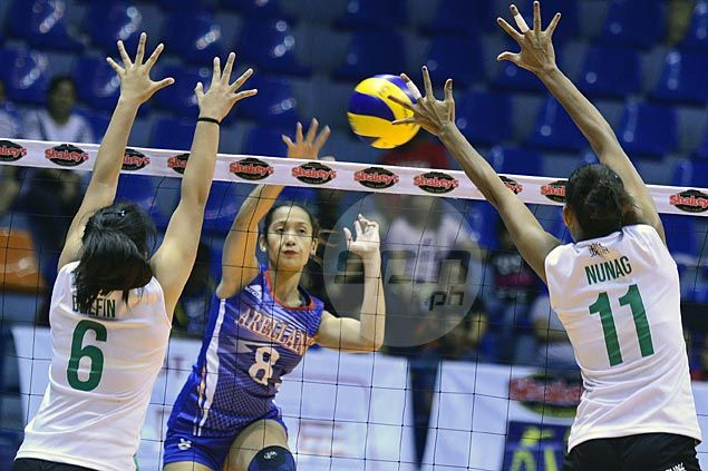 Menchie Tubiera shows way as Arellano U halts two-match slide with straight-sets win over La Salle Dasma