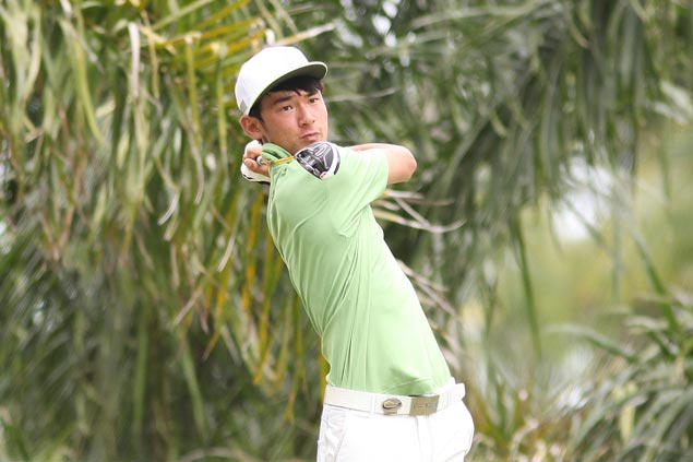 Teen pro Micah Shin hits four birdies in final five holes for two-stroke lead in Bacolod