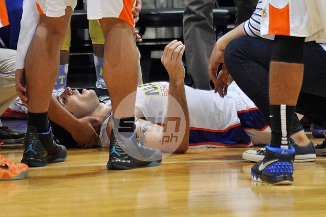 Syrian import Madanly brought to hospital for exam after hurting nape in NLEX loss to Barako