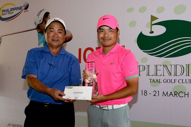 Teen pro Miguel Tabuena wins Splendido Classic by a stroke over Angelo Que