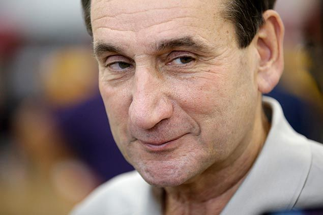 Coach Mike Krzyzewski reveals he has a Twitter account, under an alias, to monitor Blue Devils